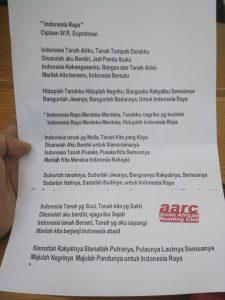 Indonesia Raya Tiga Stanza